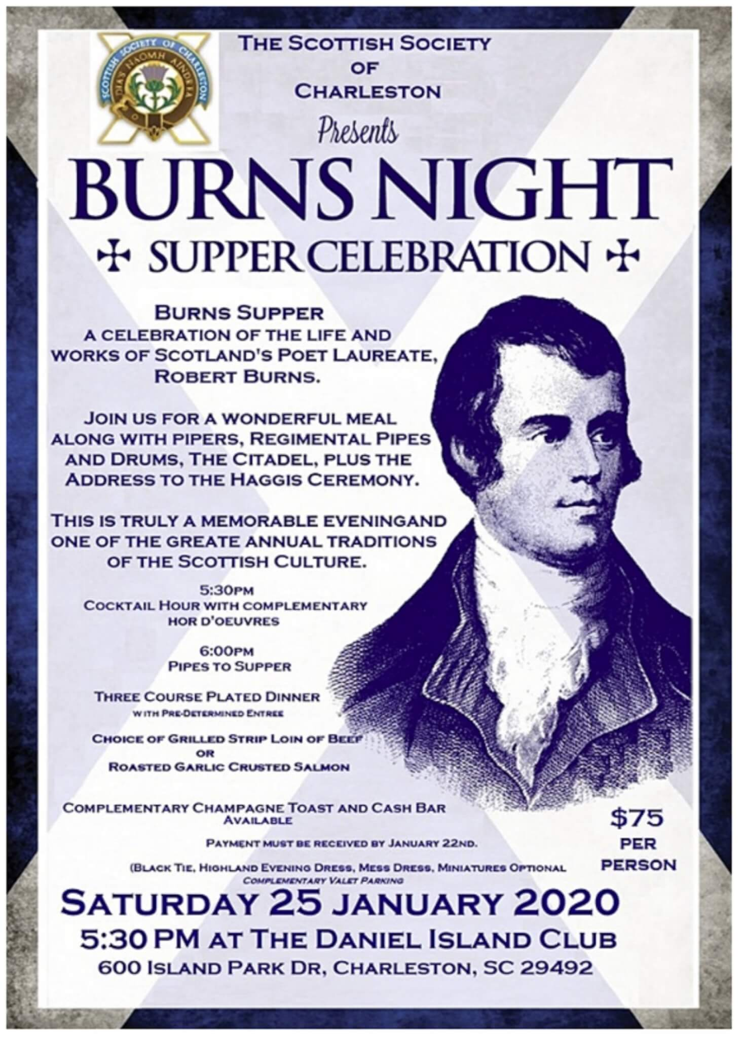2020 Burns Supper @ Daniel Island Club